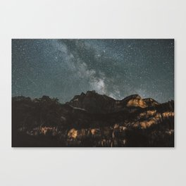 Space Night Mountains - Landscape Photography Canvas Print