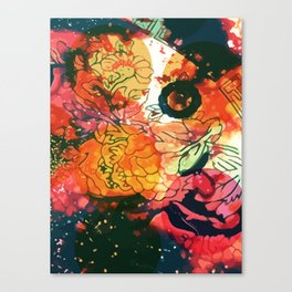 Vintage Pop Abstract Chinese Pattern Canvas Print