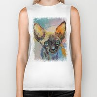 sphynx Biker Tanks featuring Sphynx by Michael Creese