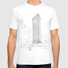 Flat Iron Building Mens Fitted Tee White MEDIUM