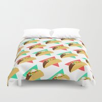 taco Duvet Covers featuring TACO TIME!  by Kaitlin Smith