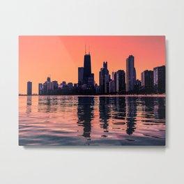 Peach Skyline Metal Print