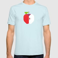 Fruit: Apple SMALL Mens Fitted Tee Light Blue