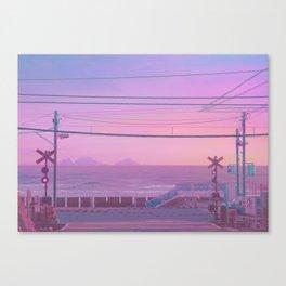 Peachy Morning Canvas Print