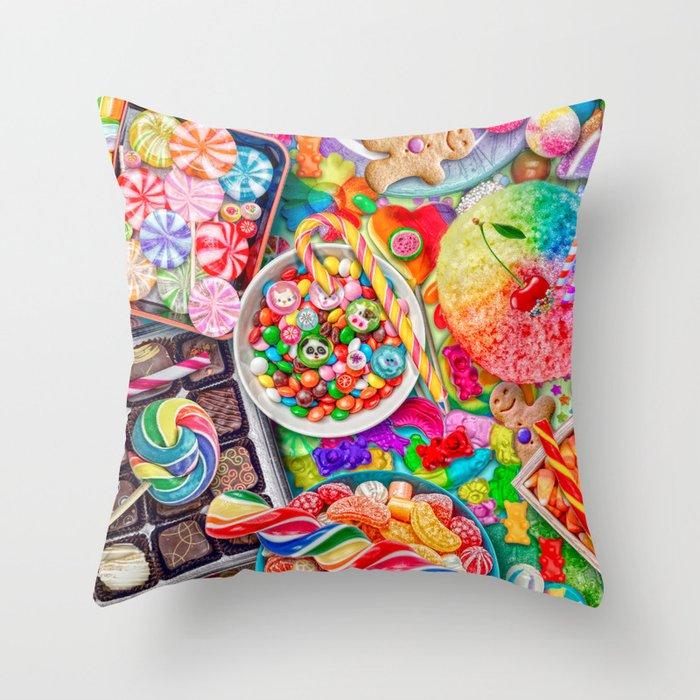 Candylicious Throw Pillow