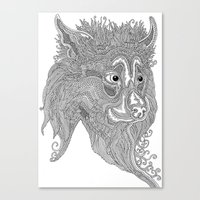 beast Canvas Prints featuring Beast by Olya Goloveshkina