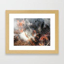 Where There's Smoke..... Framed Art Print