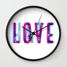LOVE over HATE Wall Clock