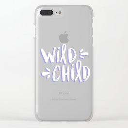 Wild Child – Blueberry Palette Clear iPhone Case