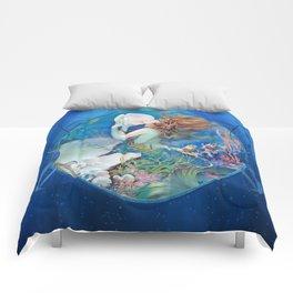 Sensual Art Deco Pearl Mermaid Comforters