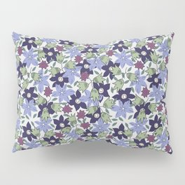 Violets Are Blue floral print Pillow Sham