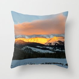 Fire on Devil's Thumb Throw Pillow