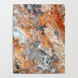 Rusty Rock Textures 47 Poster