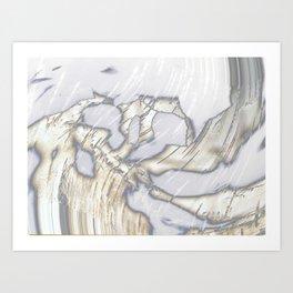 Birch Bark Silver Art Print
