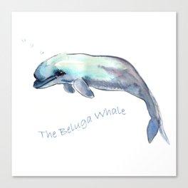 The Beluga Whale Canvas Print