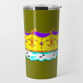 A Royal Crown with a Green Background Travel Mug