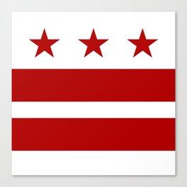 Washington DC District Of Columbia Flag Canvas Print