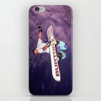 snowboarding iPhone & iPod Skins featuring Snowboarding #2 by Bruce Stanfield
