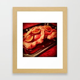 Intestine Wrapped Lung & Blood Oranges Framed Art Print