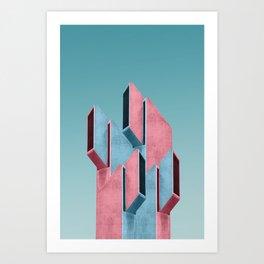 Acid pink Art Print