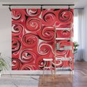 Red Apple Abstract Swirls Pattern by abstractcolor