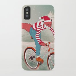 rushing home for christmas iPhone Case