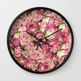 Your Pink Roses Wall Clock
