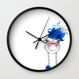 An elegant ostrich Wall Clock