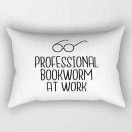 Professional Bookworm at Work Rectangular Pillow