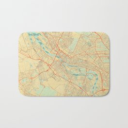 Bremen Map Retro Bath Mat