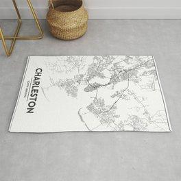 Minimal City Maps - Map Of Charleston, South Carolina, United States Rug
