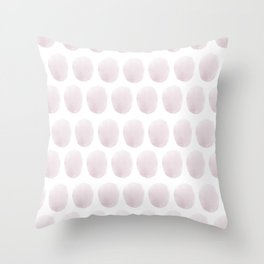 Watercolour polkadot blush Throw Pillow