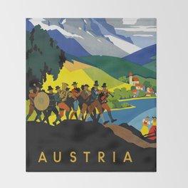Austria - Vintage Travel Ad Throw Blanket