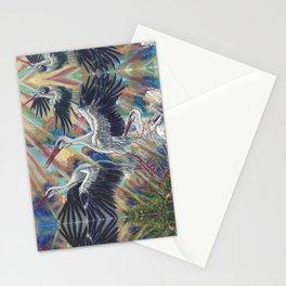 White Storks at Sunrise Stationery Cards