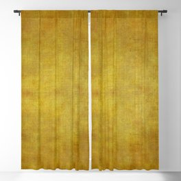 """Gold & Ocher Burlap Texture"" Blackout Curtain"