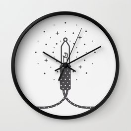 The moon inside a light bulb Wall Clock