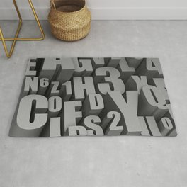 3D Letters Rug