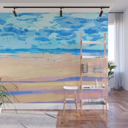 Sunset On The Shore #painting #nature Wall Mural