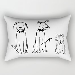 Three dogs Rectangular Pillow