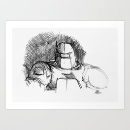 Warbot Sketch #042 Art Print