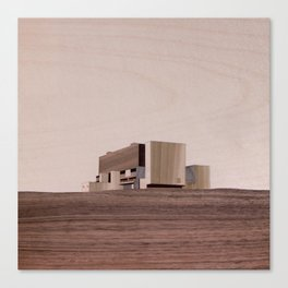 Torness Nuclear Power Station | Marquetry Canvas Print