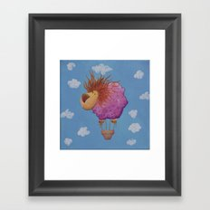 The hot hair balion Framed Art Print