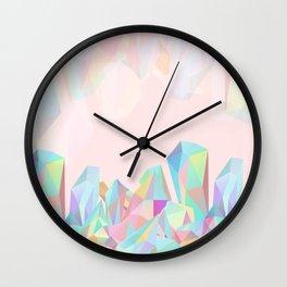Crystallized III Wall Clock