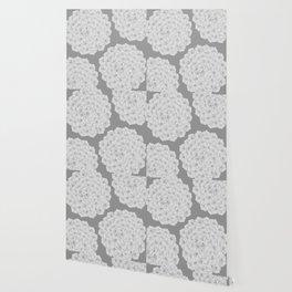 Flowerpower - Flower Balls On A Grey Background - #society6 Wallpaper