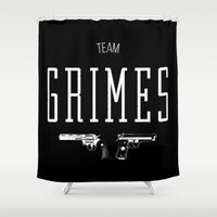 grimes Shower Curtains featuring Team Grimes by Dorothy Leigh
