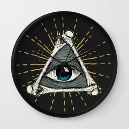 All seeing eye of God Wall Clock