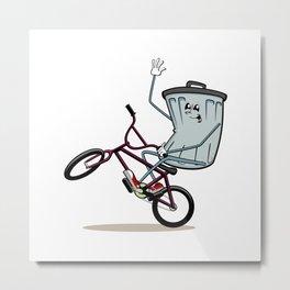 Wheelie Bin Metal Print