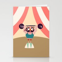 muscle Stationery Cards featuring Monsieur Muscle  by Geekygirl