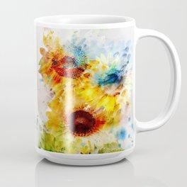 Watercolor Sunflowers Coffee Mug