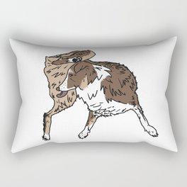 Dog Lover (Brown, White, & Tan Australian Shepherd) Rectangular Pillow